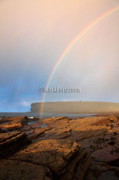 Rainbow over Marwick Bay