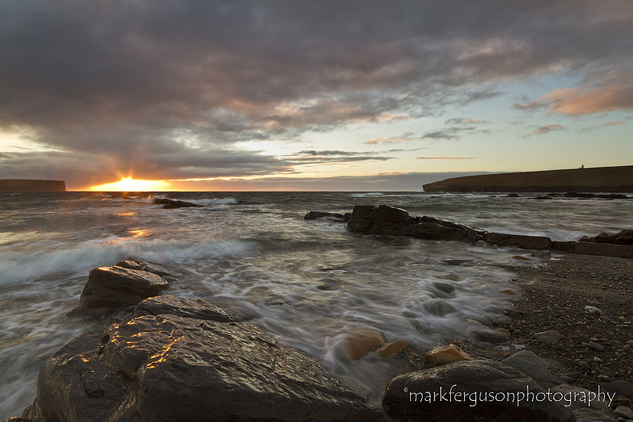 Birsay winter sunset