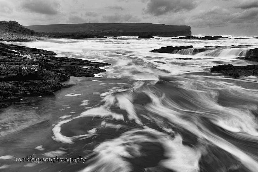 Cold seas at Brough of Birsay