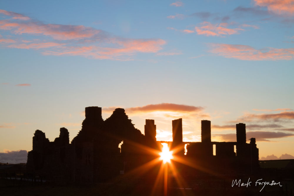 Earl's Palace sunrise