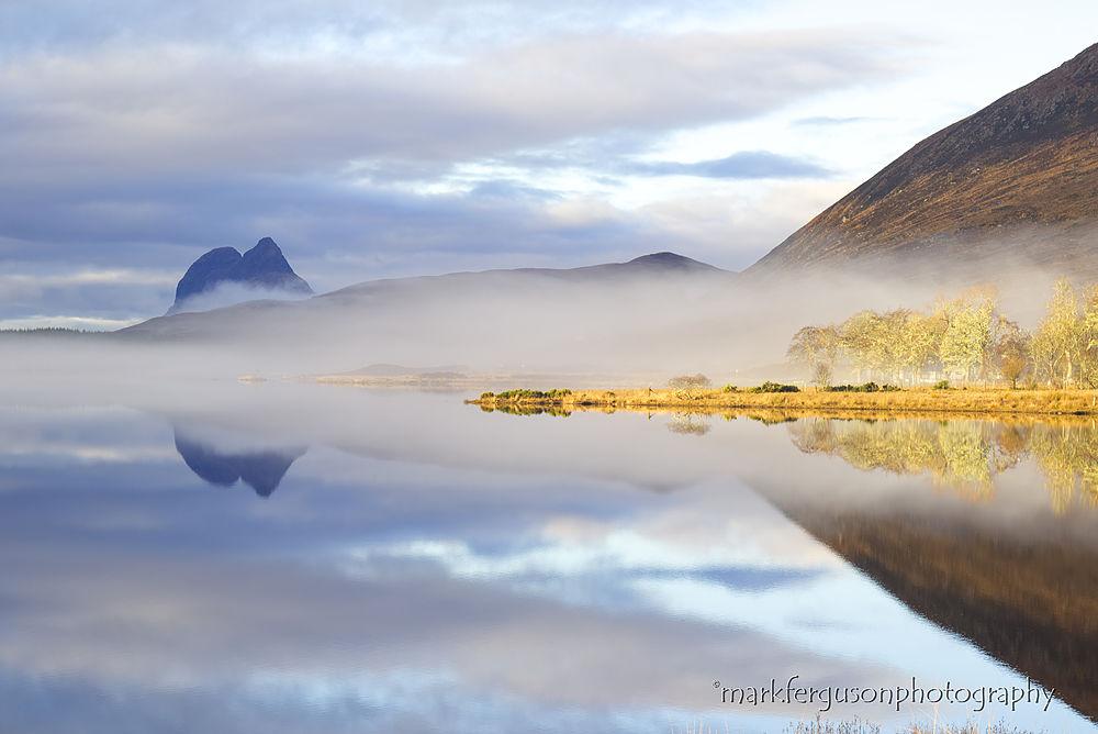 Loch Borralan mist