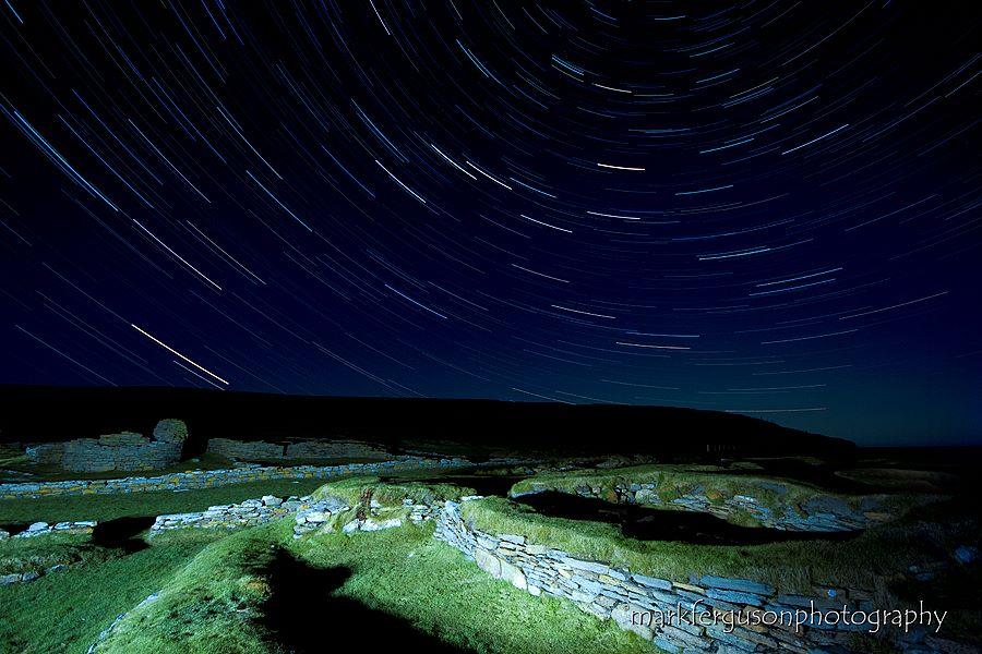Brough of Birsay at night