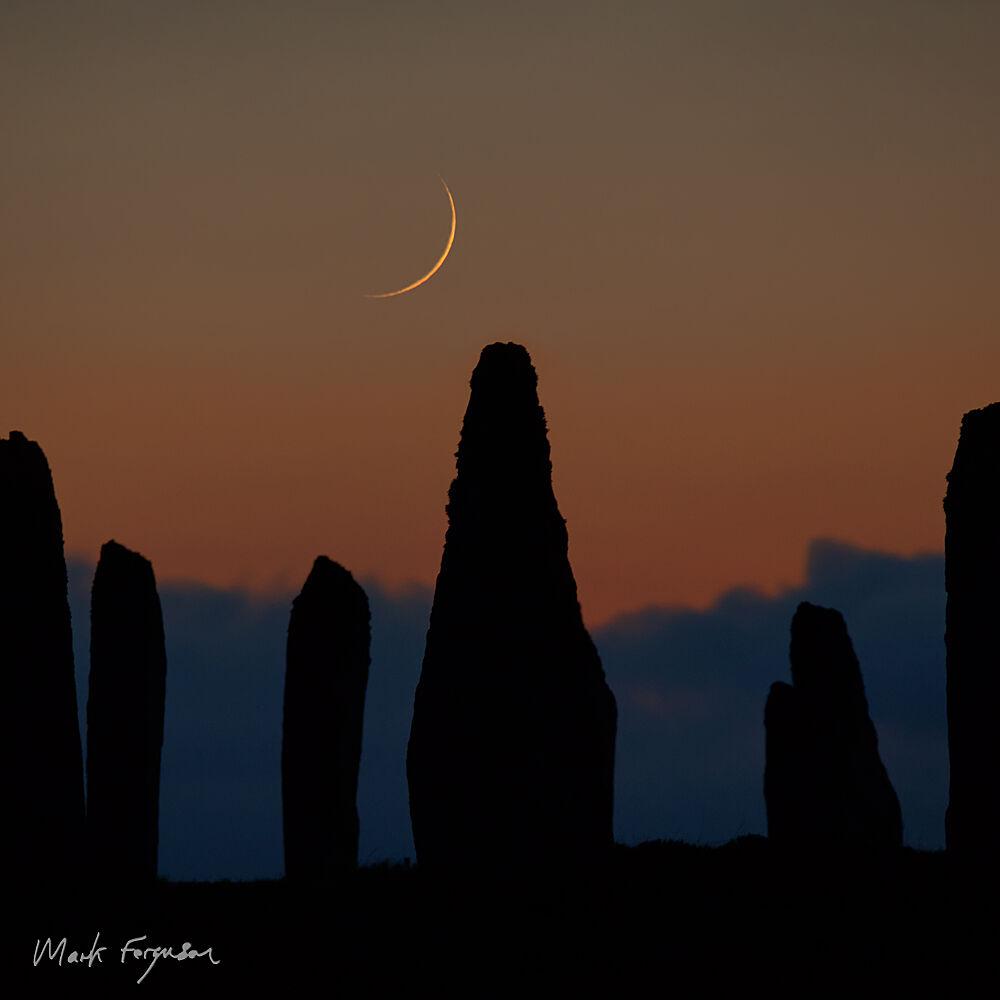 Brodgar crescent moon