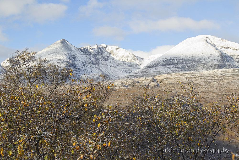 An Teallach autumn snow