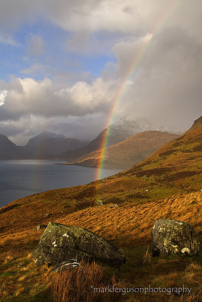 Rainbow over Loch Scavaig