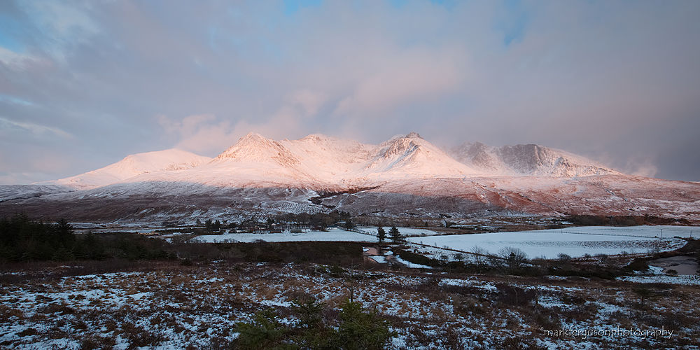 Cuillin ridge at Glen Brittle