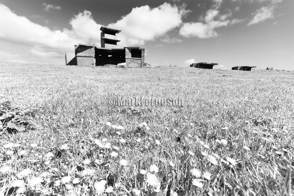 Graemeshall gun battery in infrared
