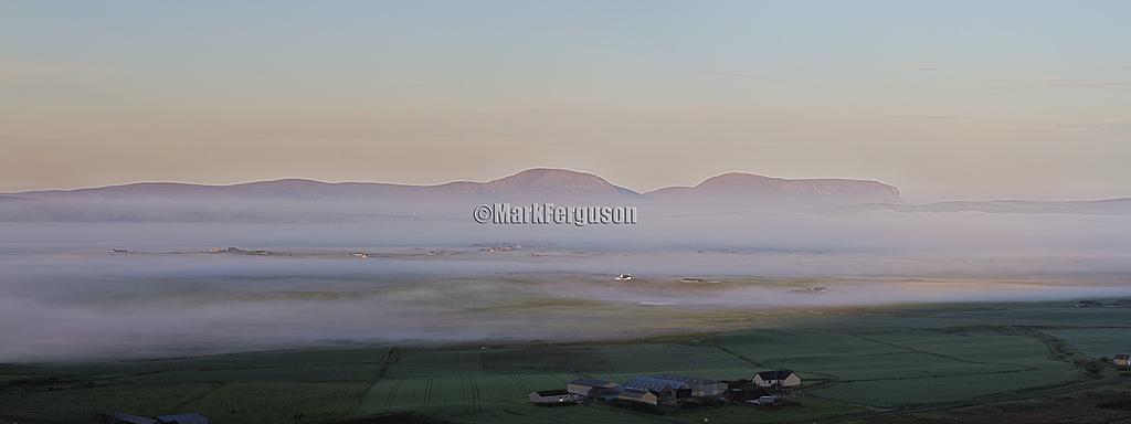 Summer dawn over Harray basin