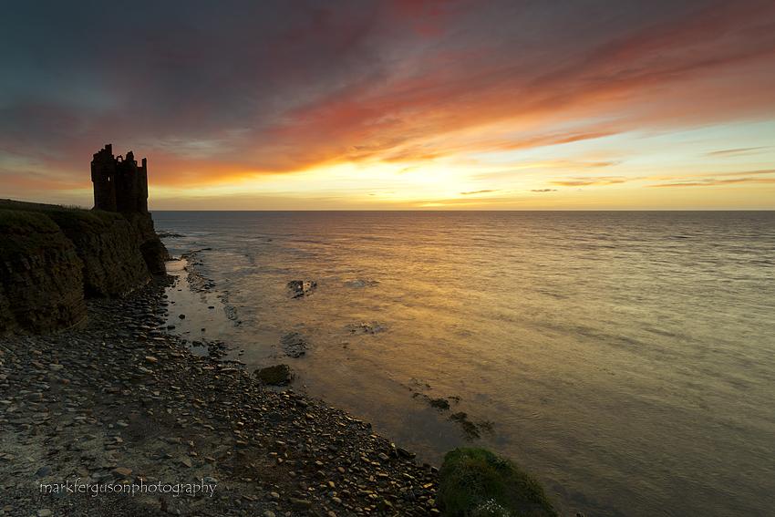 Keiss Castle sunrise