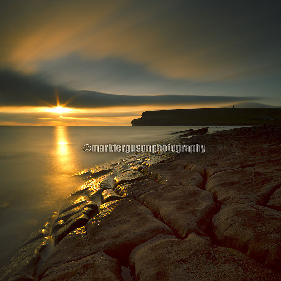 Midsummer sunset at Marwick