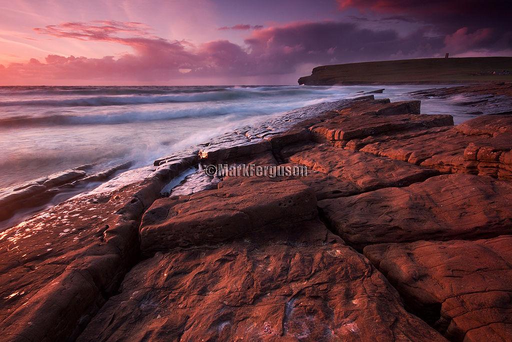 Blurred water seascape along Marwick shore