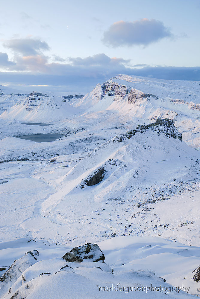 Trotternish ridge winter morning