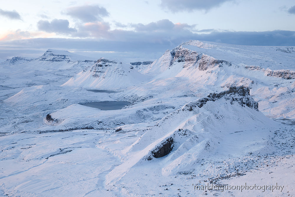Trotternish mountains in winter