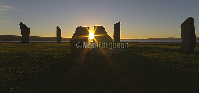 Starburst sunset at Stenness