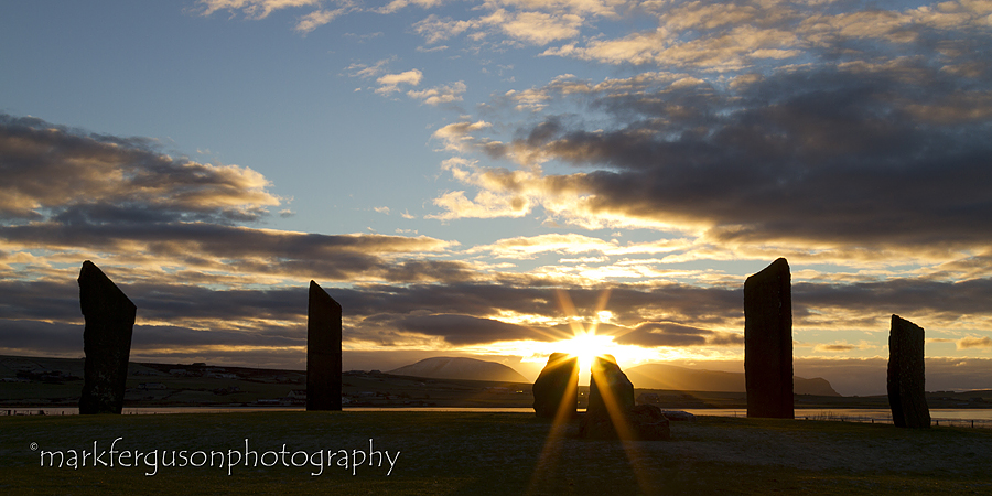 Stenness winter sunset