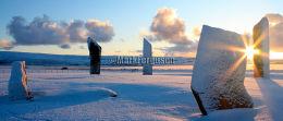 Stones of Stenness winter panorama