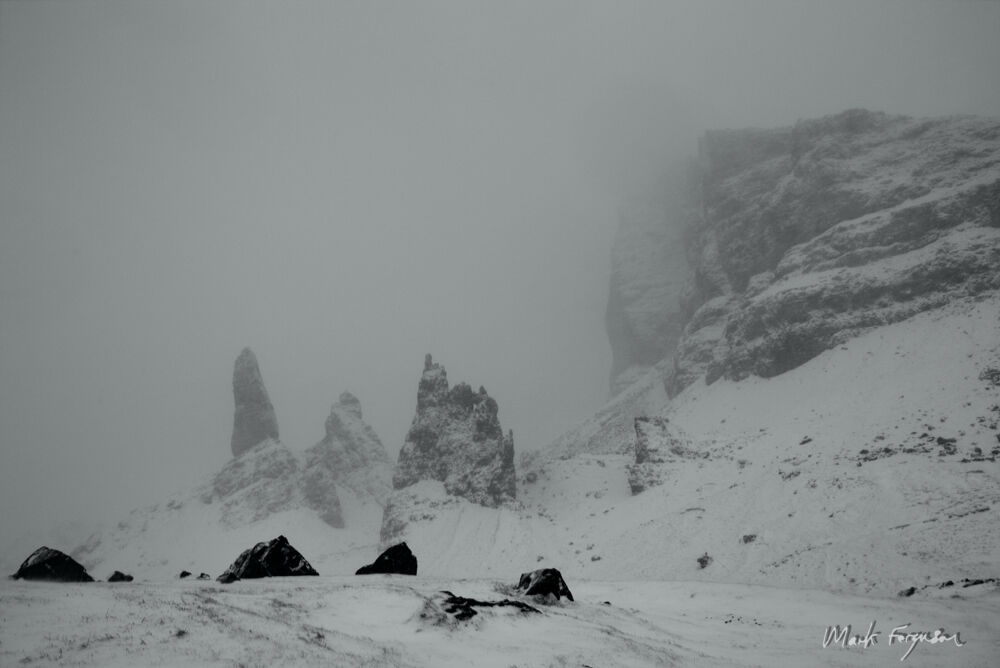 Storr in black and white