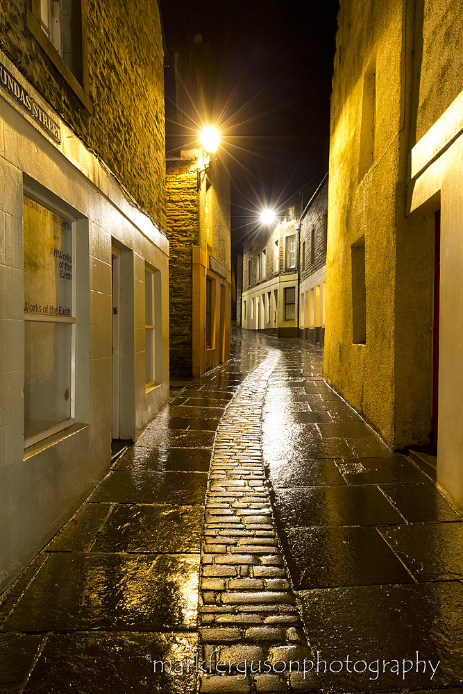 Stromness at night