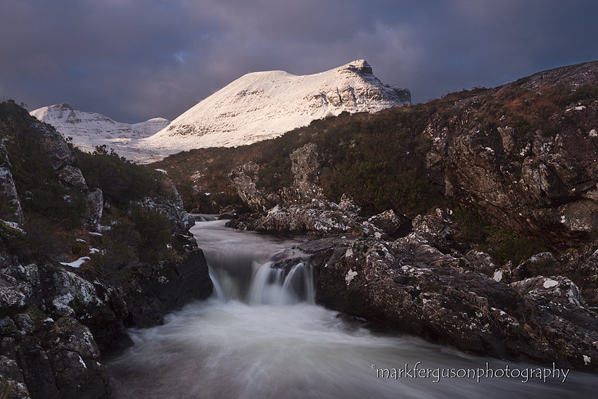 Unapool burn and Quinag