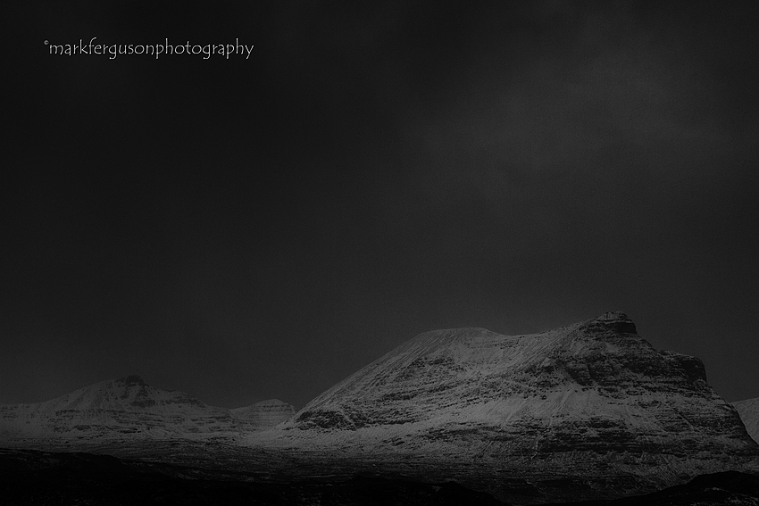 Dark skies over Quinag