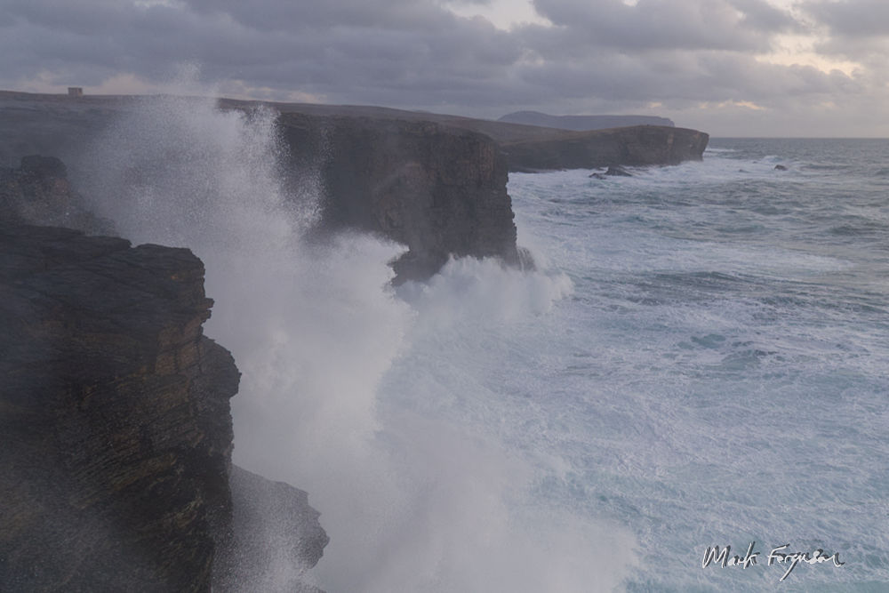 Storm waves at Yesnaby