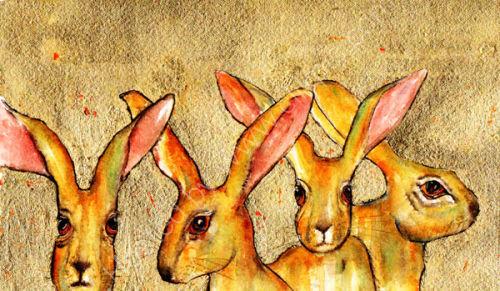 4 Golden Hares
