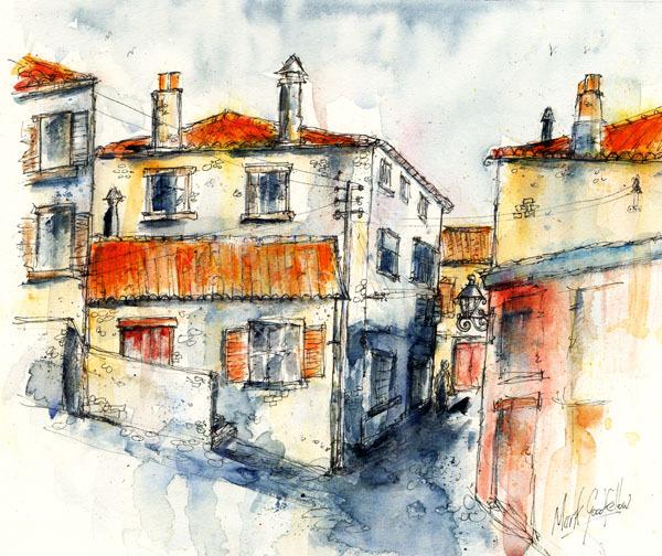 Italian village alleyway