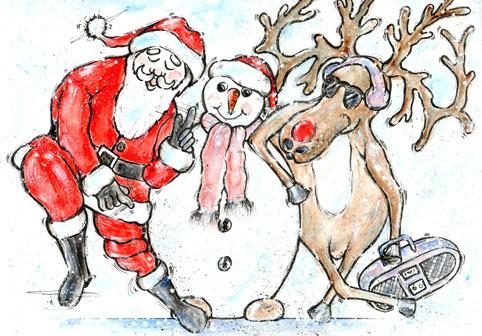 Jiving Santa