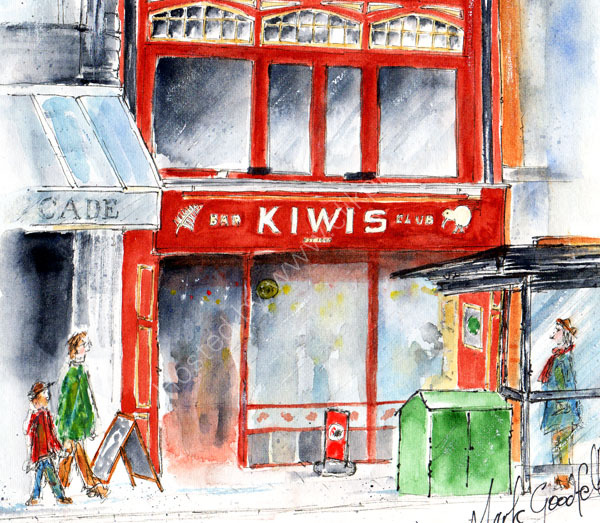Detail from 'Kiwis, St. Mary st., Cardiff'