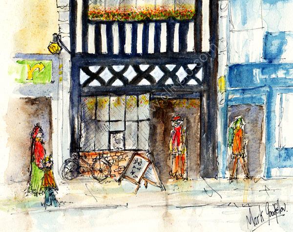 Detail from 'The Rummer Tavern, Duke St., Cardiff'