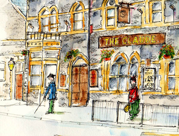 Detail from 'The Claude, Albany Road, Cardiff'