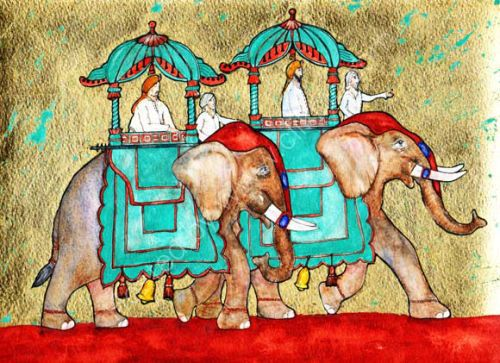 The Elephants, the Howdahs and the Maharajahs