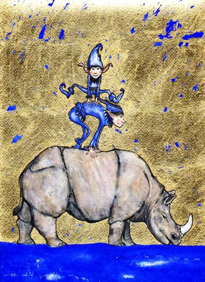 The Rhinoceros and the Jumping Elves