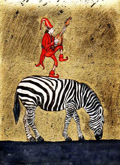 The Zebra and the Red Pixie