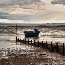 Thames Estuary With Boat