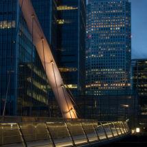 Footbridge And Canary Wharf