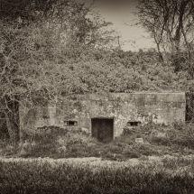 World War II Bunker. Looks Like a Face