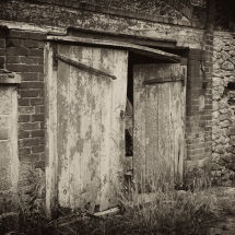 Old Barn Doors, Hinges Falling Off