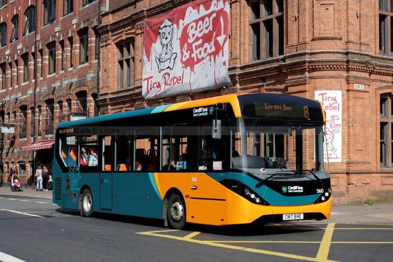 1711359M Cardiff Bus 560 Westgate St Cardiff