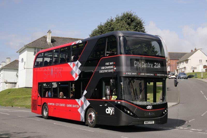 1714251M Plymouth Citybus 555 Poole Park Road Barne Barton