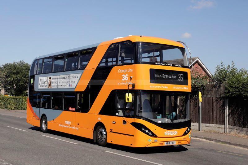 1822805M Nottingham City Transport 447 Field Lane Chilwell