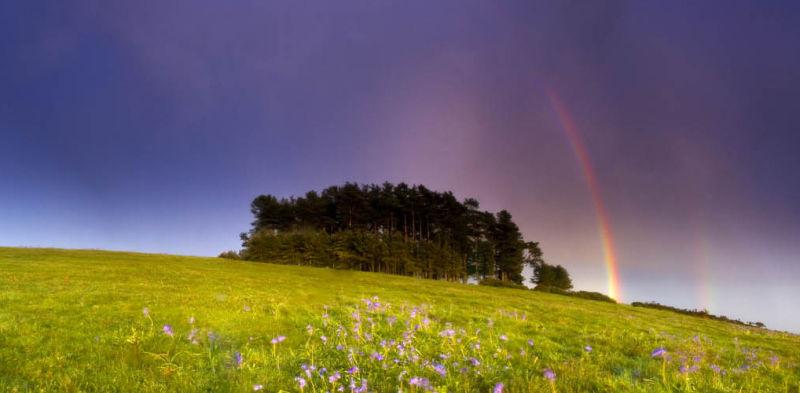 Rainbow Over May Hill.
