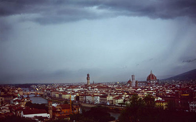 View From Piazzale Michelangelo Florence Italy.