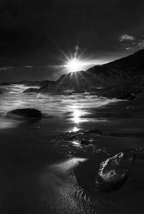 Sunset at Whitsand Bay Cornwall.