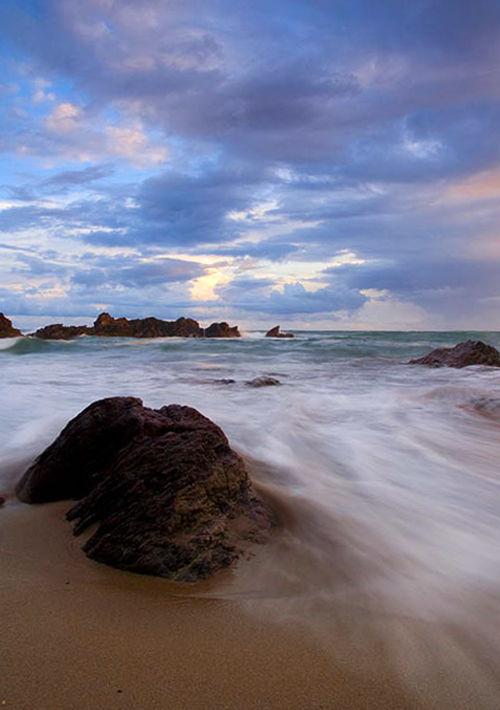 Sunset  Whitsand Bay Cornwall UK