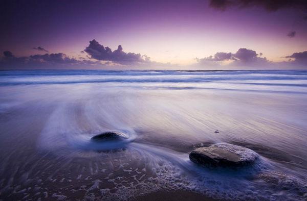 Gentle waves.