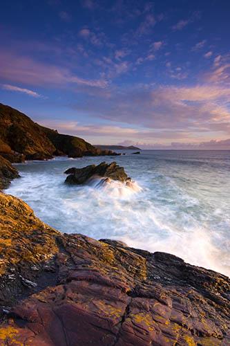 Sunset at Freathy Beach Cornwall UK