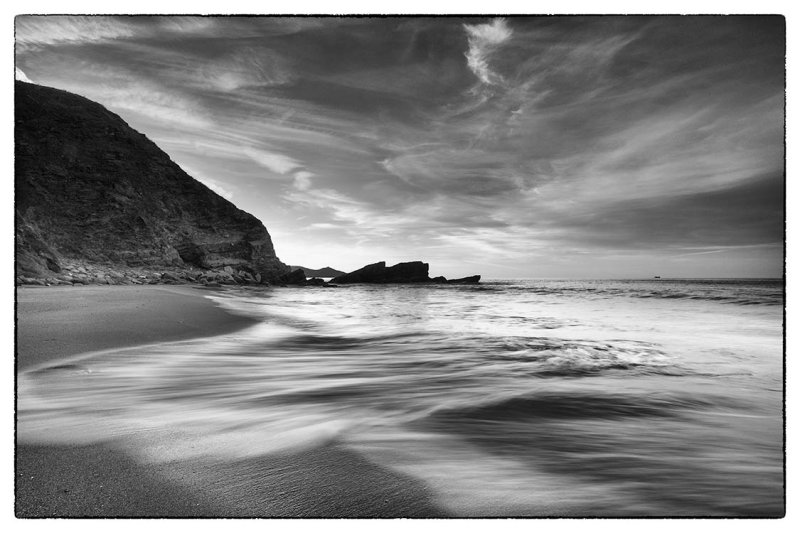 Early morning solitude on Treganhawke Beach Whitsand Bay Cornwall UK