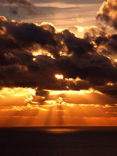 Sunset At Whitsand Bay Cornwall UK