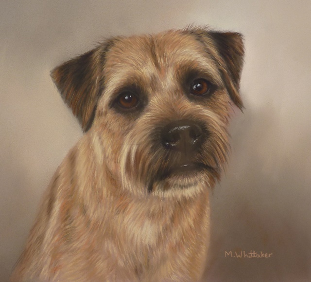 Original Pastel Painting Of Biggles